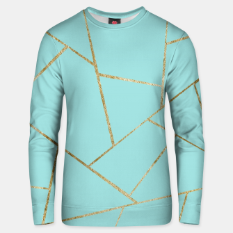 Soft Turquoise Gold Geometric Glam #1 #geo #decor #art Unisex sweatshirt miniature