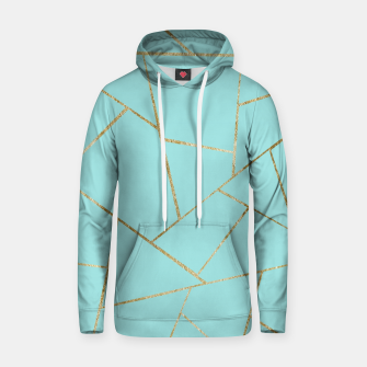 Soft Turquoise Gold Geometric Glam #1 #geo #decor #art Kapuzenpullover miniature