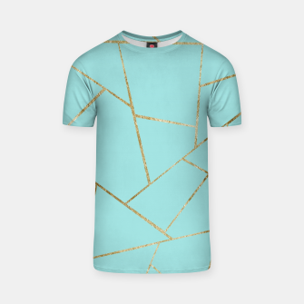 Miniature de image de Soft Turquoise Gold Geometric Glam #1 #geo #decor #art T-Shirt, Live Heroes