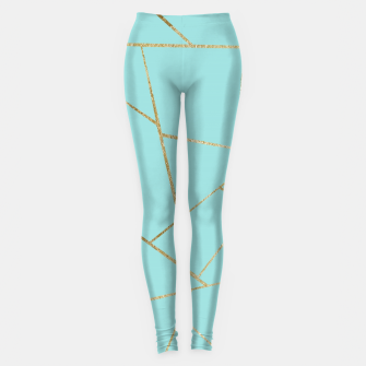 Miniature de image de Soft Turquoise Gold Geometric Glam #1 #geo #decor #art Leggings, Live Heroes