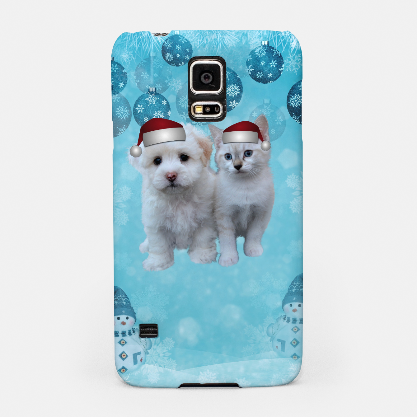 Image de Christmas Cat and Dog Samsung Case - Live Heroes