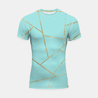 Soft Turquoise Gold Geometric Glam #1 #geo #decor #art Shortsleeve rashguard miniature