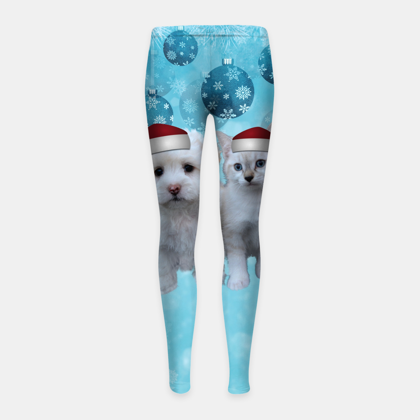 Image of Christmas Cat and Dog Girl's leggings - Live Heroes