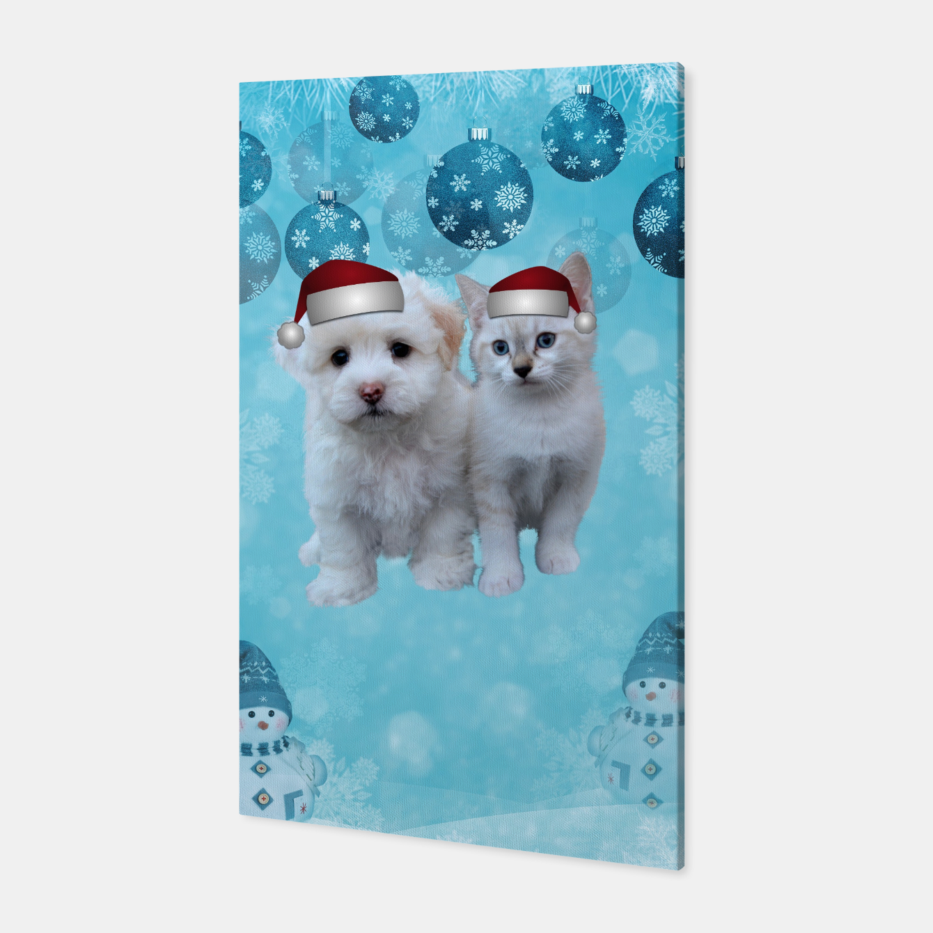 Image de Christmas Cat and Dog Canvas - Live Heroes