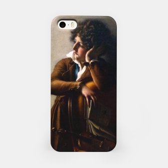 Portrait of Benoît-Agnes Trioson by Anne-Louis Girodet de Roussy-Trioson iPhone Case thumbnail image