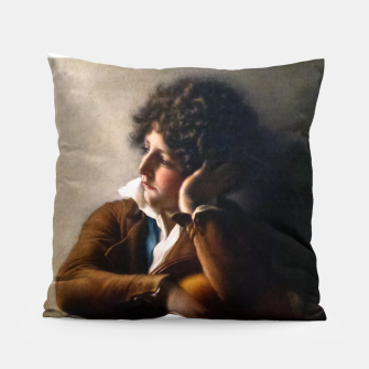 Thumbnail image of Portrait of Benoît-Agnes Trioson by Anne-Louis Girodet de Roussy-Trioson Pillow, Live Heroes