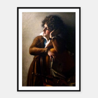 Thumbnail image of Portrait of Benoît-Agnes Trioson by Anne-Louis Girodet de Roussy-Trioson Framed poster, Live Heroes