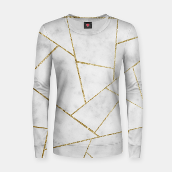 Miniature de image de White Marble Gold Geometric Glam #1 #geo #decor #art  Frauen sweatshirt, Live Heroes