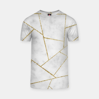 Miniature de image de White Marble Gold Geometric Glam #1 #geo #decor #art  T-Shirt, Live Heroes
