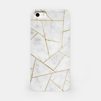Miniature de image de White Marble Gold Geometric Glam #1 #geo #decor #art  iPhone-Hülle, Live Heroes