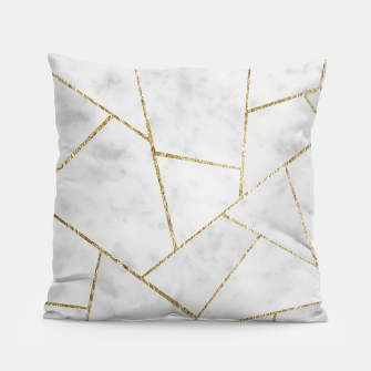 Miniature de image de White Marble Gold Geometric Glam #1 #geo #decor #art  Kissen, Live Heroes