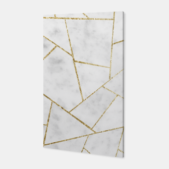 Miniature de image de White Marble Gold Geometric Glam #1 #geo #decor #art  Canvas, Live Heroes