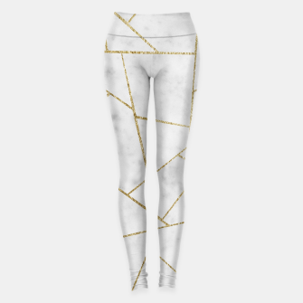 Miniature de image de White Marble Gold Geometric Glam #1 #geo #decor #art  Leggings, Live Heroes