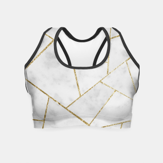 Miniature de image de White Marble Gold Geometric Glam #1 #geo #decor #art  Crop Top, Live Heroes