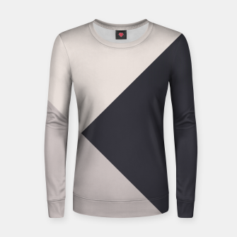Miniature de image de Neutrals Geometric #1 #minimal #decor #art Frauen sweatshirt, Live Heroes
