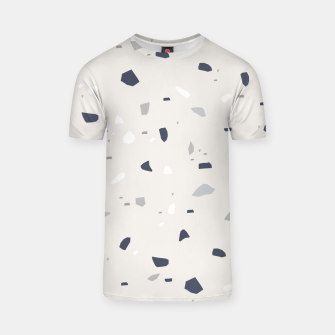 Thumbnail image of Midnight Navy Gray Creme Terrazzo #1 #decor #art T-Shirt, Live Heroes