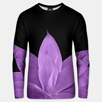 Miniatur Purple Agave #1 #tropical #decor #art Unisex sweatshirt, Live Heroes