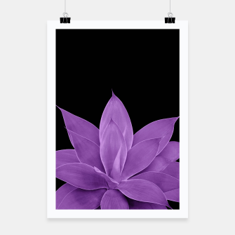 Miniatur Purple Agave #1 #tropical #decor #art Plakat, Live Heroes