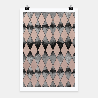 Miniatur Geometric Diamond Glam #1 #geo #decor #art Plakat, Live Heroes