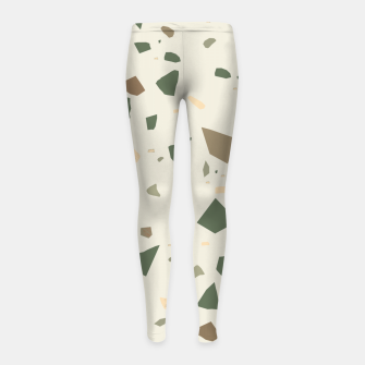 Miniaturka Sage Cactus Green Tan Brown Terrazzo #1 #decor #art  Kinder-Leggins, Live Heroes