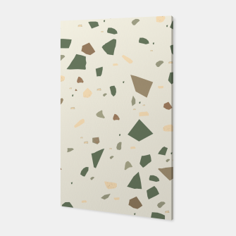 Thumbnail image of Sage Cactus Green Tan Brown Terrazzo #1 #decor #art  Canvas, Live Heroes