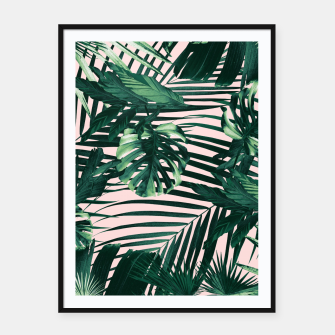 Thumbnail image of Tropical Jungle Leaves Siesta #3 #tropical #decor #art  Plakat mit rahmen, Live Heroes