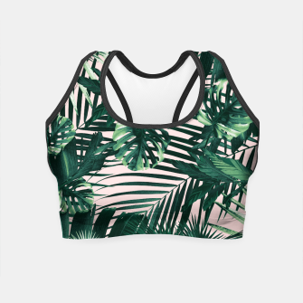 Thumbnail image of Tropical Jungle Leaves Siesta #3 #tropical #decor #art  Crop Top, Live Heroes