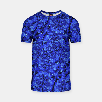 Thumbnail image of Blue Fancy Ornate Print Pattern T-shirt, Live Heroes