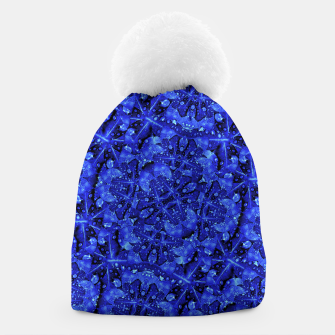 Thumbnail image of Blue Fancy Ornate Print Pattern Beanie, Live Heroes