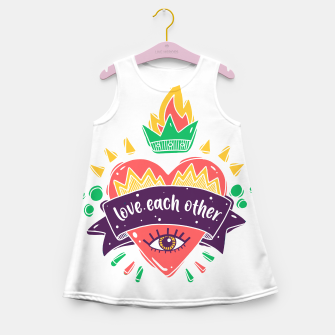 Thumbnail image of Love Each Other Girl's summer dress, Live Heroes