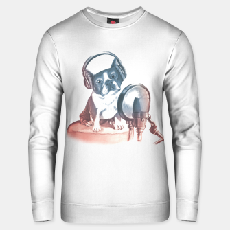 Singer Dog Unisex sweater thumbnail image