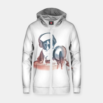 Singer Dog Zip up hoodie thumbnail image