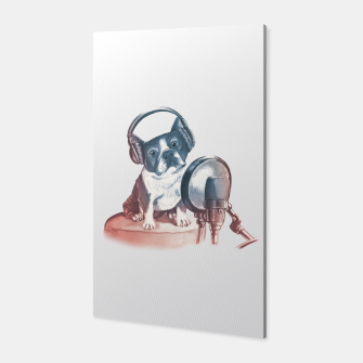 Singer Dog Canvas thumbnail image