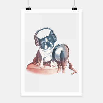 Thumbnail image of Singer Dog Poster, Live Heroes