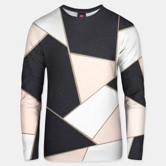 Charcoal Blush White Gold Geometric Glam #1 #geo #decor #art  Unisex sweatshirt obraz miniatury