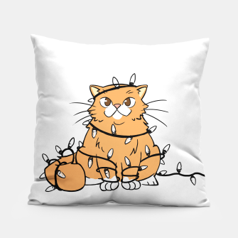 Thumbnail image of Holiday Cat Pillow, Live Heroes