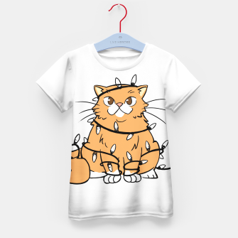 Thumbnail image of Holiday Cat Kid's t-shirt, Live Heroes