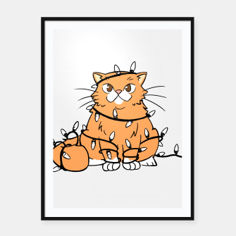 Thumbnail image of Holiday Cat Framed poster, Live Heroes