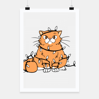 Thumbnail image of Holiday Cat Poster, Live Heroes