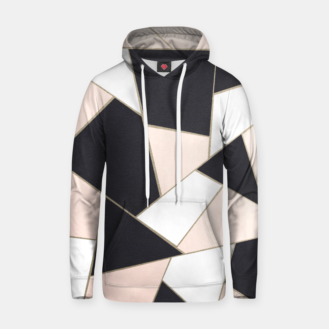 Zdjęcie Charcoal Blush White Gold Geometric Glam #1 #geo #decor #art  Kapuzenpullover - Live Heroes