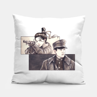 Miniatur Mister Sunshine Fan Art Pillow, Live Heroes