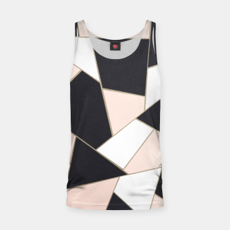 Charcoal Blush White Gold Geometric Glam #1 #geo #decor #art  Muskelshirt  obraz miniatury