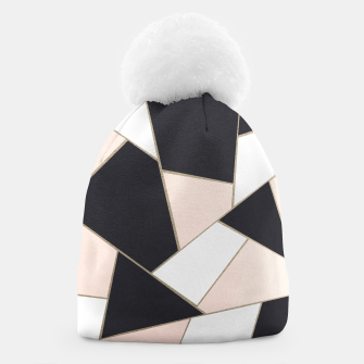 Miniature de image de Charcoal Blush White Gold Geometric Glam #1 #geo #decor #art  Mütze, Live Heroes