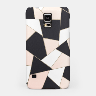 Charcoal Blush White Gold Geometric Glam #1 #geo #decor #art  Handyhülle für Samsung obraz miniatury