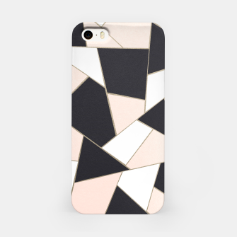 Charcoal Blush White Gold Geometric Glam #1 #geo #decor #art  iPhone-Hülle Bild der Miniatur