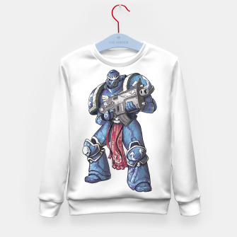 Thumbnail image of Ultramarine Fan Art Kid's sweater, Live Heroes