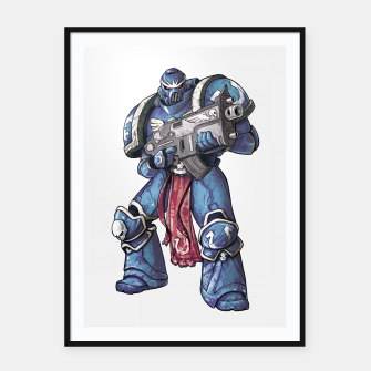 Thumbnail image of Ultramarine Fan Art Framed poster, Live Heroes