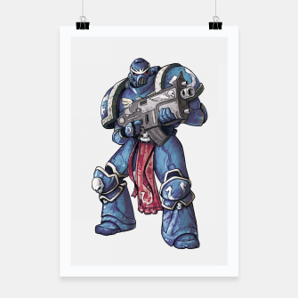 Thumbnail image of Ultramarine Fan Art Poster, Live Heroes