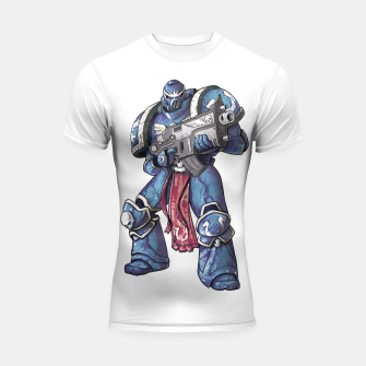 Thumbnail image of Ultramarine Fan Art Shortsleeve rashguard, Live Heroes