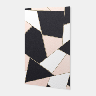 Charcoal Blush White Gold Geometric Glam #1 #geo #decor #art  Canvas obraz miniatury